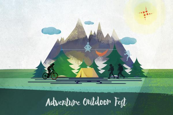 Illustrazione Adventure Outdoor Fest 2018